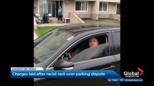 Woman charged after racial slurs hurled during Edmonton parking spat