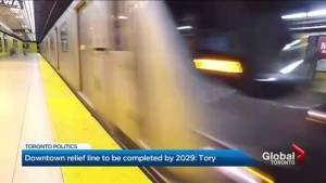 Mayor Tory announces plan to speed up completion of downtown relief line