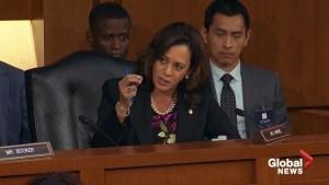 Kamala Harris expresses concerns about SCOTUS nominee Brett Kavanaugh's allegiance to Trump
