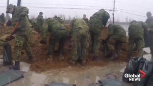 Canadian Armed Forces assist with Quebec and New Brunswick flood relief