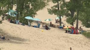 High water at Sandbanks isn't keeping the visitors away
