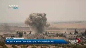 Syria war: Idlib rebels targeted by 'fiercest raids in weeks'