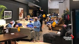 Houston furniture store takes in Harvey evacuees, shelter turns into 'slumber party on steroids'