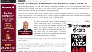 "Mississauga Mayor calls online publication ""racist and homophobic"" (02:25)"