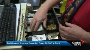 Less concern about debt despite average Canadian owing more than $15K: poll