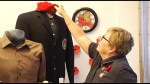 Storefront window displays around Peterborough show support  for Remembrance Day