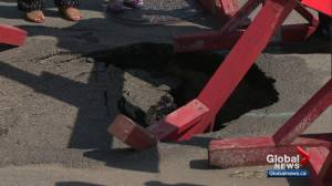 Edmontonians frustrated by sinkholes