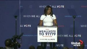Michelle Obama 'sick of the chaos' of U.S. politics