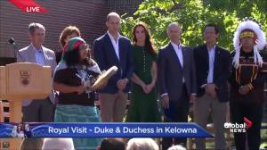 Prince William and Kate stand for opening at anniversary for UBC Okanagan