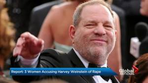 Report: 3 women accusing Harvey Weinstein of rape