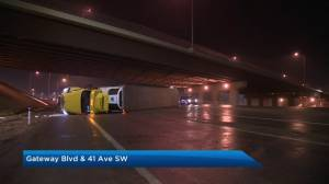 Freezing rain causes icy conditions on Edmonton roads