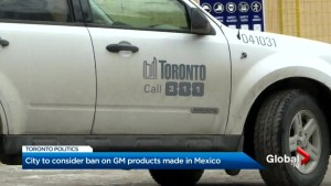 Toronto city council considering ban on General Motors vehicles