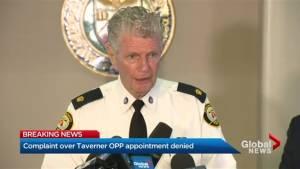 Interim Commisioner requests urgent hearing regarding Ron Taverner OPP appointment
