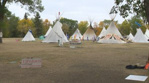 Teepees being to be removed from Justice Camp