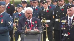 Canadian WWII veteran delivers emotional address at D-Day ceremony