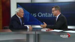 Former Premier David Peterson says Andrea Horwath is no Bob Rae.