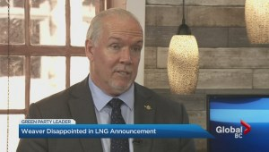 BC Green leader not happy with LNG announcement