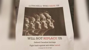 White supremacist posters found circulating at the University of Victoria