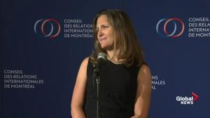 Freeland: NAFTA negotiations separate from tariff response