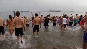 Maine residents take part in polar bear plunge