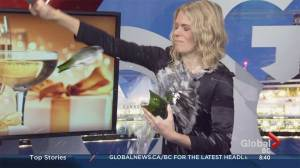 Champagne saber lesson explodes in guest's and anchor's face
