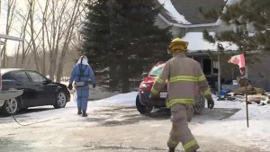 A volunteer firefighter – a victim of a fire in his own home