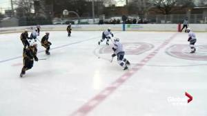 High school hockey teams face off in LaSalle (01:25)