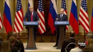 Donald Trump congratulates Vladimir Putin once again on a 'great World Cup'