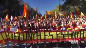 Hundreds of thousands march for unity in Spain