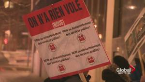 Montreal police white-collars protest