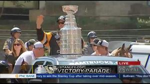 Pittsburgh Penguins celebrate Stanley Cup victory with massive parade