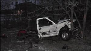 Two vehicle crash near Lindsay sends one man two hospital