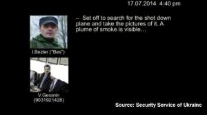 Ukrainian authorities release audio recordings they say show rebels shot down MH17