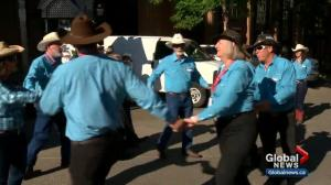 Leslie Horton goes square dancing on Stephen Avenue