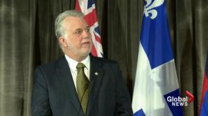 Couillard pushes Trudeau on Bombardier