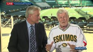 Eskimos play-by-play man takes issue with Saskatchewan premier's comments about Roughriders' new stadium