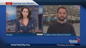 Ice storm disrupts Montreal's Trudeau International Airport