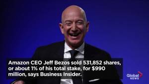 Jeff Bezos sold over 500,000 Amazon shares, making nearly US$1 billion