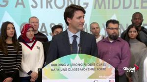PM Trudeau talks elimination of transit tax benefit