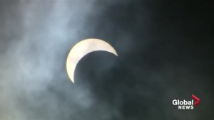 Edmonton's partial solar eclipse