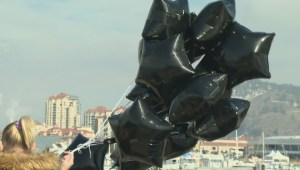 Black Balloons released over Kelowna