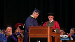 "Bret ""The Hitman"" Hart gets honorary degree at Mount Royal University"