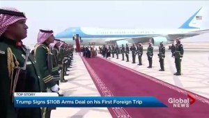 Saudi Arabia rolls out red carpet for Trump's first foreign visit