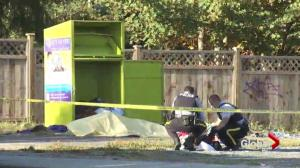 Man dies in charity donation box in Surrey