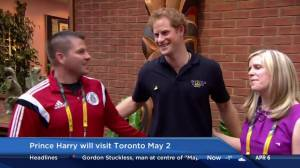 Prince Harry to visit Toronto in May