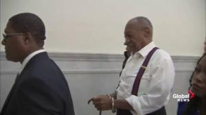 Bill Cosby led away by police in shackles following sentencing