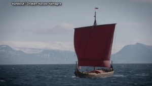 World's largest modern-day Viking ship arrives in Canada after 6-week transatlantic journey