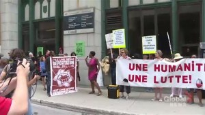 Activists rally in Montreal, call for feds to abolish new department of border security
