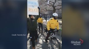 Photo of Brampton NDP candidate hoisting 'F— the Police!' sign prompts reaction