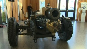 Year-long project restores howitzer in time for Remembrance Day